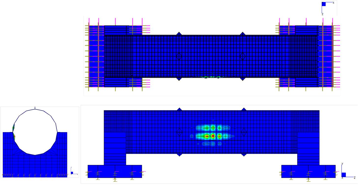 Analisi non lineari di un ponte tubo in acciaio